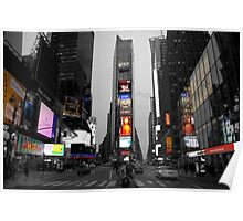 Time Square color key Poster