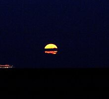 Super Moon over the Atlantic by AnneRN