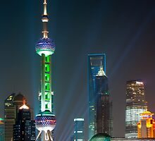 Pearl TV Tower Shanghai by Thomas Stroehle