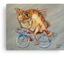 Boarfish On A Bicycle Canvas Print