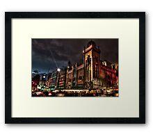 0242 City at Night 1 Framed Print