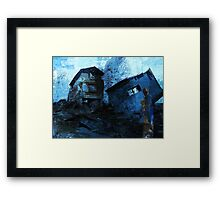 Mother with child - devastated Framed Print