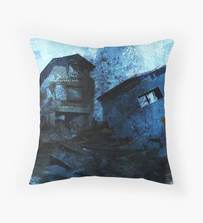 Mother with child - devastated Throw Pillow