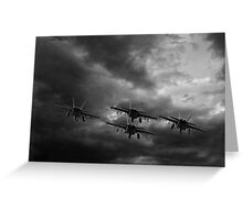 Jets Flying into the Storm Greeting Card