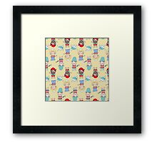 Cute Pirate Party Framed Print