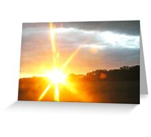 Sunset at 60mph Greeting Card