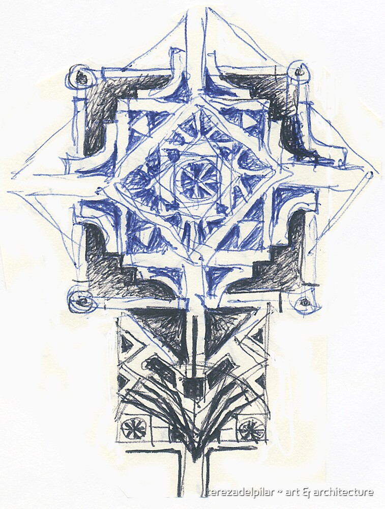 sketch for a ceiling by terezadelpilar~ art & architecture