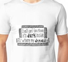 Imagine Dragons Demons Lyric Unisex T-Shirt