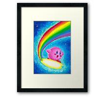 Kirby Rainbow Framed Print