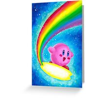 Kirby Rainbow Greeting Card