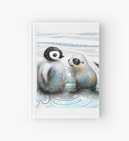 Penguin Chick and Baby Seal Hardcover Journal