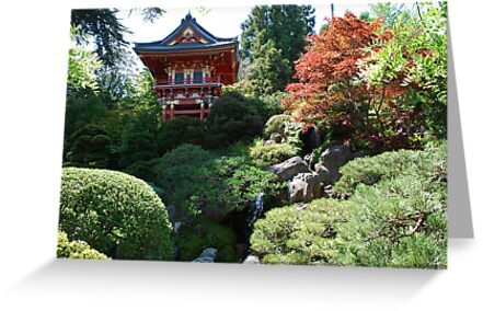 Pagoda on the hill by Marjorie Wallace