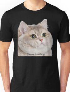 Heavy Breathing Cat- Improved Unisex T-Shirt