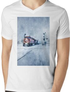 COLD NIGHTS ON THE MIDNIGHT TRAIN Mens V-Neck T-Shirt