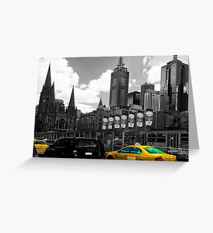 Melbourne Cab Greeting Card