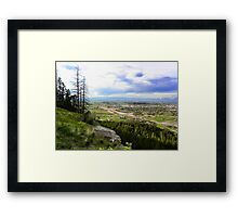 Flathead Valley Overlook Framed Print