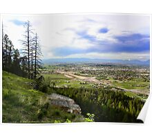 Flathead Valley Overlook Poster