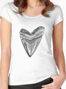 Isurus Escheri  Women's Fitted Scoop T-Shirt