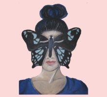Blue butterfly One Piece - Short Sleeve
