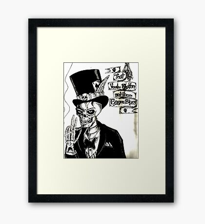 Voodoo Rhythm and Bayou Blues Framed Print