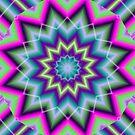 Diagonal Star Pattern by Charldia