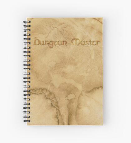 Dungeon Master - Gaming Inspired Dungeon Master Map Grid Notebook, Fantasy Parchment Notebook Spiral Notebook
