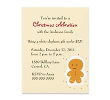 Christmas party invitations by Buford Burows