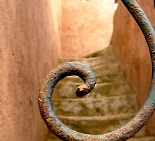 Iron Spiral over Stairs by Ashleigh Johnson