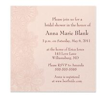 Wedding shower invitations by Buford Burows