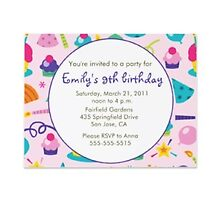 Birthday party invitations by Buford Burows