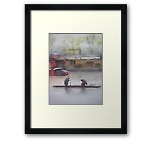 In the city and in the country Framed Print
