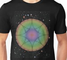 Geometrical Rainbows Flying through Space Unisex T-Shirt