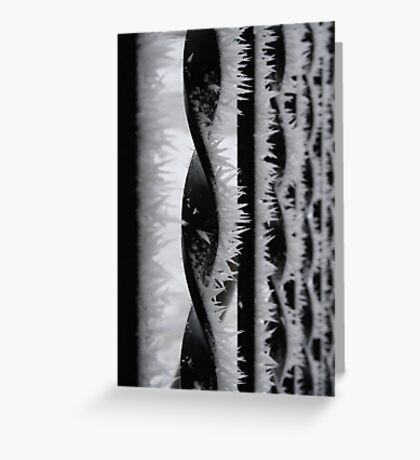 Winter Shards Greeting Card
