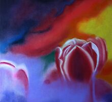 Misty Tulips 2 by ArtbyInese2015