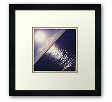 Hipsta Gradient Series- Sunset ripple effects No.1 Framed Print