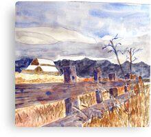 Fence Look Canvas Print