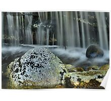 Waterfall Ribbons Poster