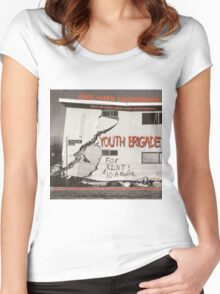 YOUTH BRIGADE - SINK WITH CALIFORNIA Women's Fitted Scoop T-Shirt