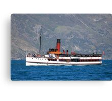 TSS Earnslaw, Queenstown Bay New Zealand Canvas Print