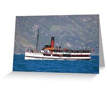 TSS Earnslaw, Queenstown Bay New Zealand Greeting Card