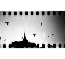 palace sky, phnom penh, cambodia Photographic Print