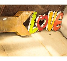Colorful Love Sign Photographic Print