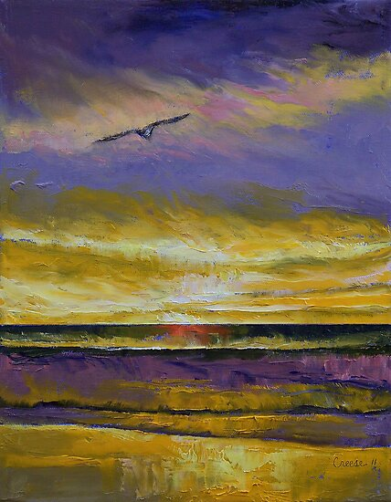 Seagull Sunset by Michael Creese