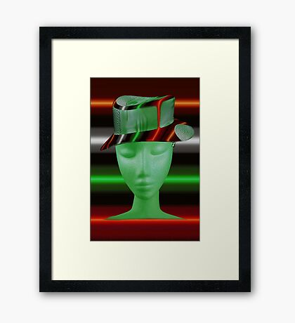 GREEN WITH ENVY..PILLOW - TOTE BAG -JOURNAL-SCARF ECT.. Framed Print