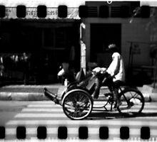 cyclo, phnom penh, cambodia by tiro