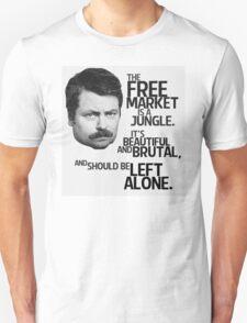 Ron Swanson Libertarian Free Market Capitalist Unisex T-Shirt