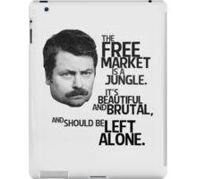 Ron Swanson Libertarian Free Market Capitalist iPad Case/Skin