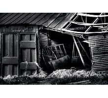 BW-11 - Barn - Springtown, Texas Photographic Print
