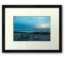 Night time blue - Caloundra Inlet  Framed Print