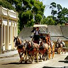 Travelling Up Main Street, Sovereign Hill by Christine Smith